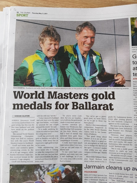 World Masters Gold Medals for the Lawfords