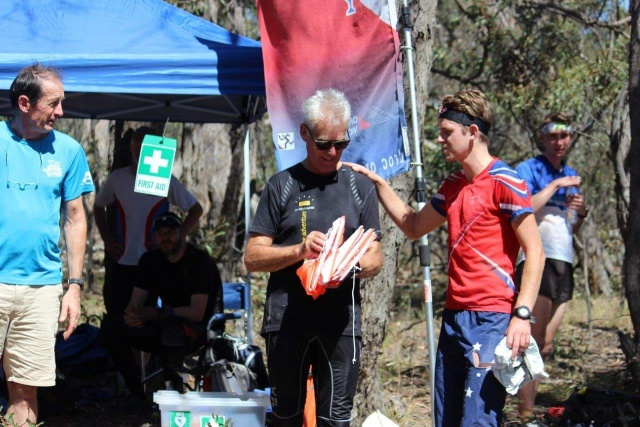 Roch receiving thank you from Brodie Nankervis for assistance with training camp 24 Feb 2019