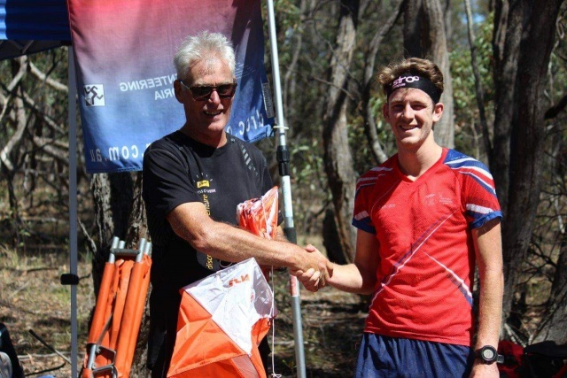 Roch receiving thank you from Brodie Nankervis for assistance with training camp 25 Feb 2019