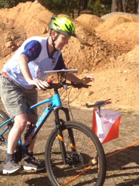 Ian at the Start Creswick MTBO 19 May 2019