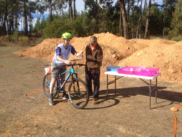 Ian and Mark at Creswick MTBO 19 May 2019
