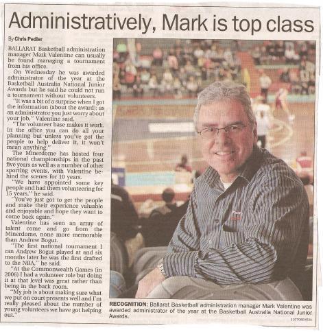 Mark Valentine Award