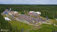 Aerial View of the WOC Long Final Finish