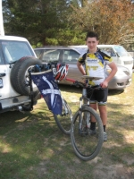 Declan Dickson after winning the ACT MTBO Long Champs