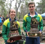 Australian 21E Long Distance Champions - Aislinn Prendergast and Ian lawford