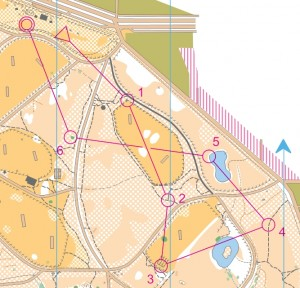 Simple orienteering course in Victoria Park