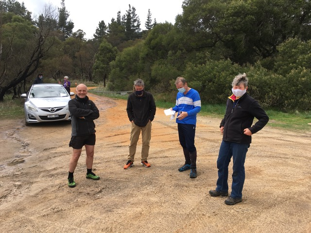 Mt Beckworth during COVID times - complete with masks and suitably distanced after David's course 2 Oct 2021